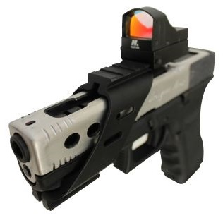Airsplat G17 Custom Race Gun Pistol Reflex Sight