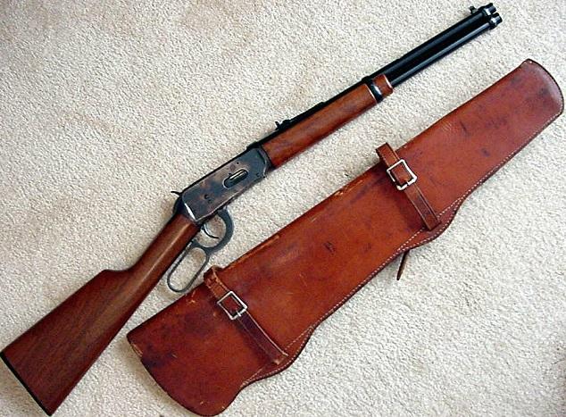 Custom Leather Saddle Rifle Scabbard