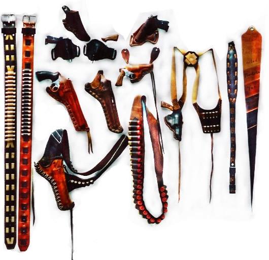 Leather Gun Holster Belt for Men and Women