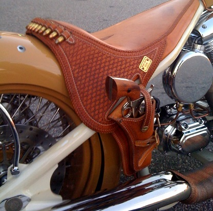 VIntage Motorcycle Rifle Scabbard